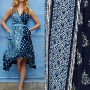 Anthropologie Maeve Blue Motif Dress size 10 New